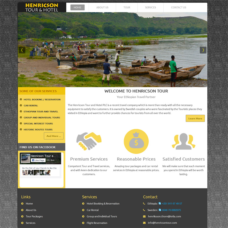 Website Design Company in Ethiopia, Website Development Service in